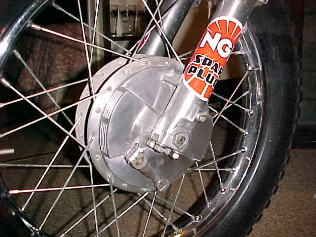 Trick vented front brake plate